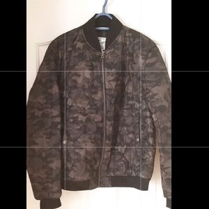 Lucky Brand Camo Quilted Bomber Jacket NWT Size M